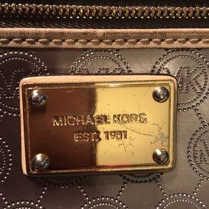 Michael Kors metallic wristlet